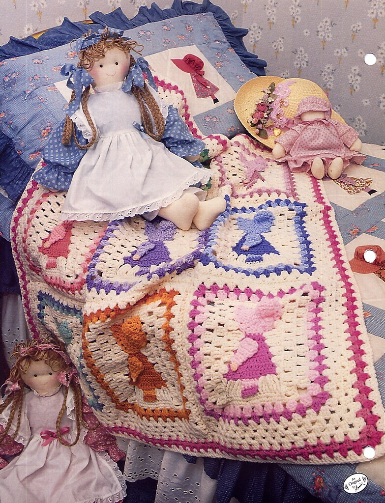 Sunbonnet Sue Crochet Afghan Pattern Annies Attic Back