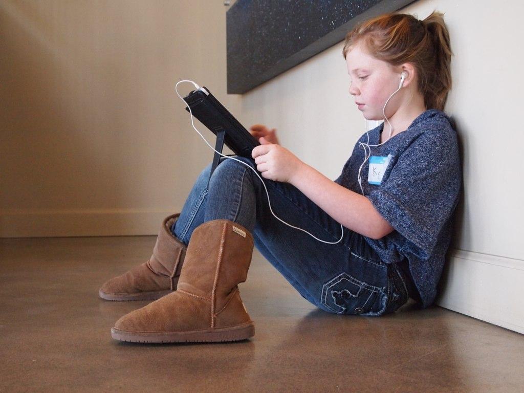 Student using an iPad
