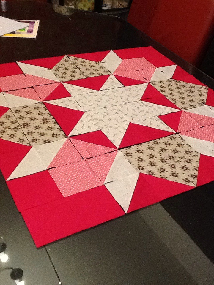 36 Quot Swoon Block Ready To Piece 4 Fqs Plus Pomegranate I