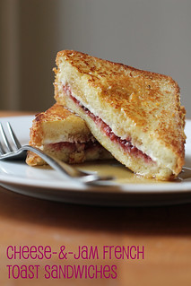 cheese-and-jam french toast sandwiches | by awhiskandaspoon