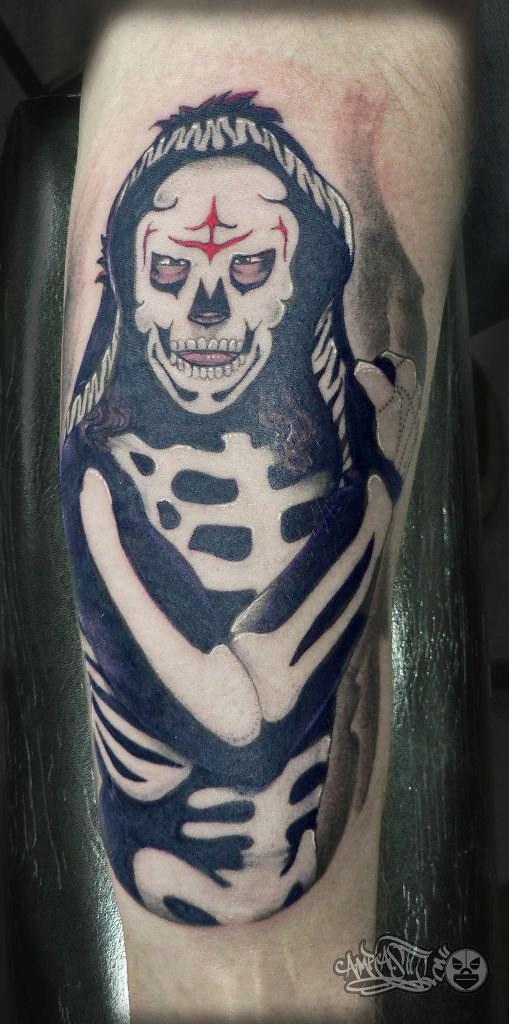 Luchador La parka tattoo | Diseños originales de tatuaje ...