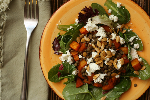 lentil squash salad 6 | by crumblycookie