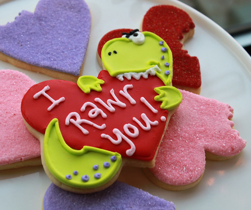 I Rawr You Dino Valentine Cookie Gift Box | by Whipped Bakeshop