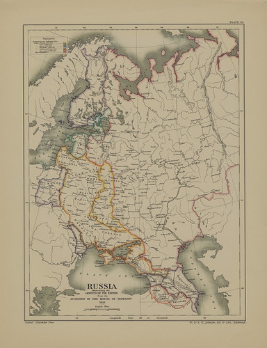 Map page of Section XLIX Russia 1613-1878 from Part VII of Historical atlas of modern Europe from the decline of the Roman empire : comprising also maps of parts of Asia and of the New world connected with European history | by uconnlibrariesmagic