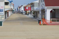 Fresh new boards at the South End of the Boardwalk