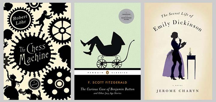 silhouettes in well-known book covers