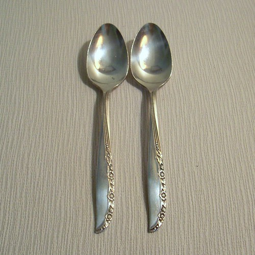 Teaspoon Brittany Rose Pattern Oneida Wm Rogers Replacement Pair | by BarnFly Vintage