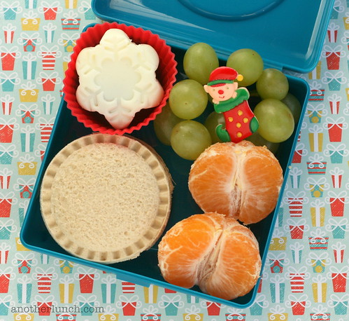Elf in a bento Box & snowflake egg | by anotherlunch.com
