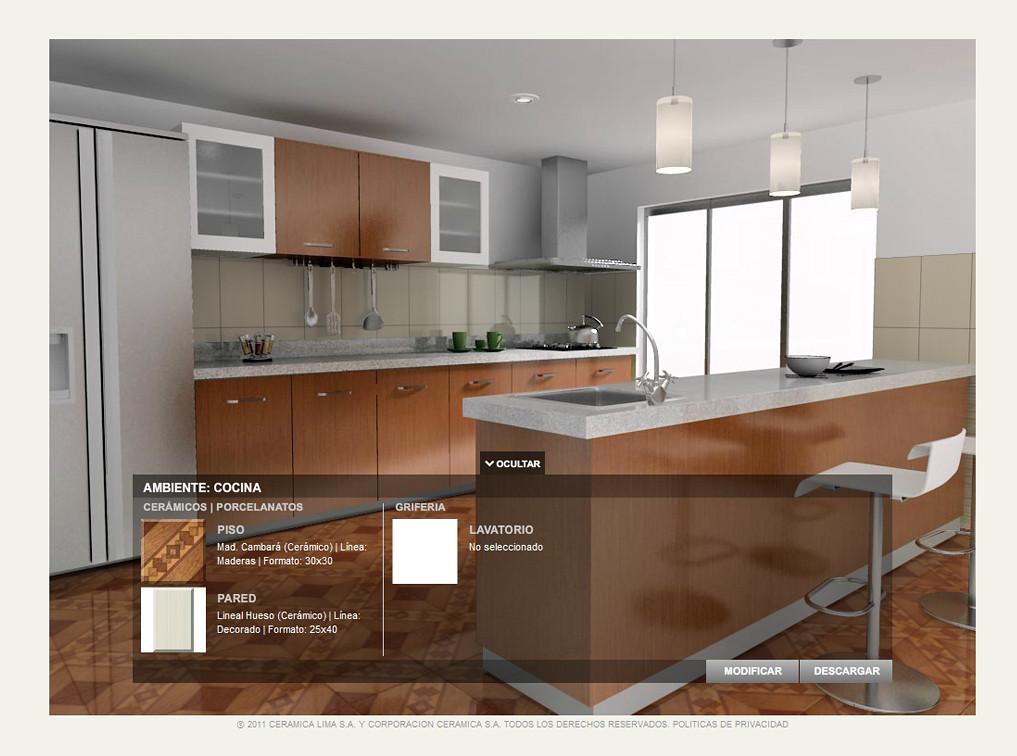 Simulador de ambientes celima cocina olivares fuentes for Simulador de cocina
