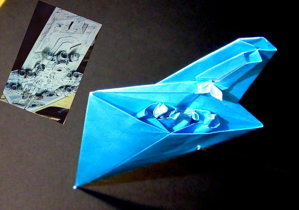 Super Star Destroyer origami rear view | My own design ... - photo#11