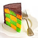 Green & Gold Checkerboard Cake with Milo Ganache