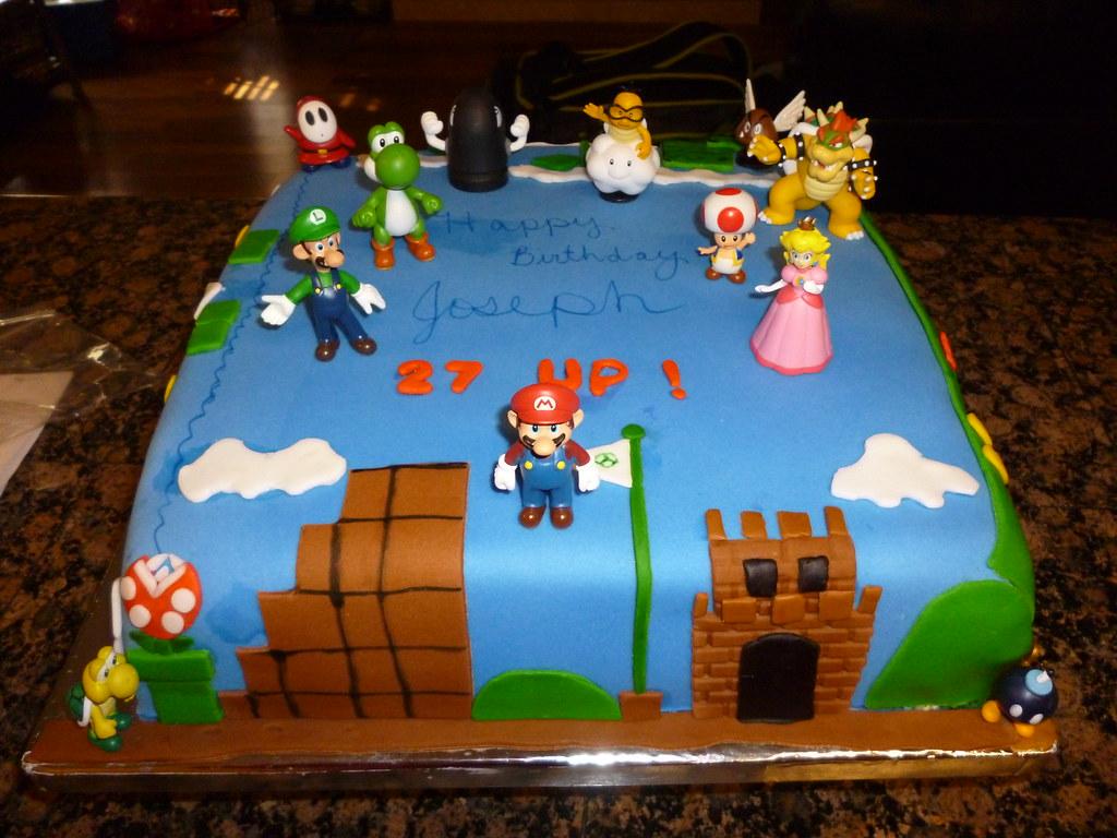 Super Mario Sheet Cake