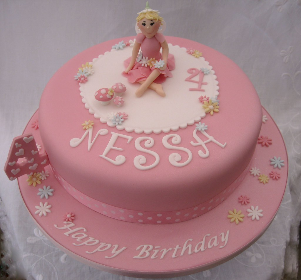 Birthday Cake Pic For Little Girl : Little girl s pink Fairy Birthday Cake 10