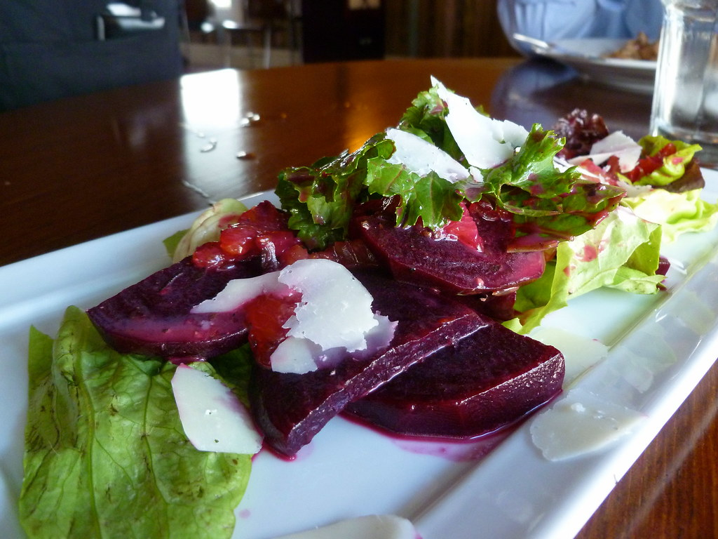 Beet Salad | Beet salad with sheep cheese, citrus, and lettu ...