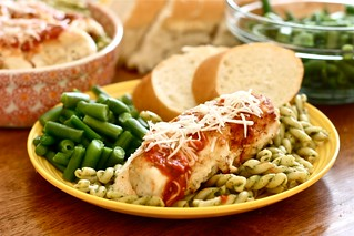 Chicken Parm with pesto pasta 3 | by Hungry Housewife