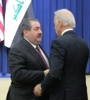 Vice President Joe Biden congratulating Iraqi delegate | by WilliamKoenig