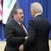 Vice President Joe Biden congratulating Iraqi delegate