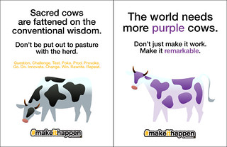 Sacred Cows vs Purple Cows | by charliecurve