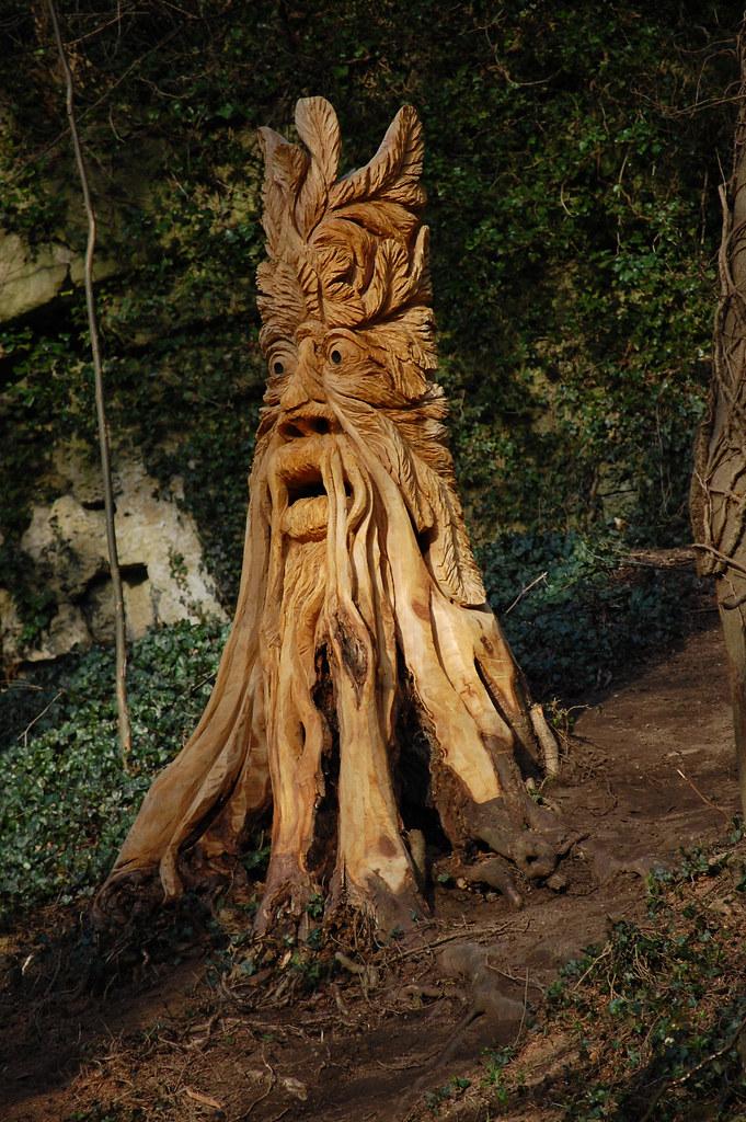 Knaresborough abbey road chain saw sculpture mini louie