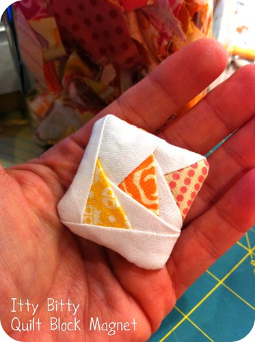 Itty Bitty Quilt Block Magnet | by Cara {Me? A Mom?}