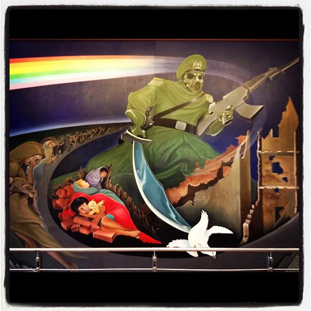 Mural At Denver Airport #odd #conspiracies #NWO