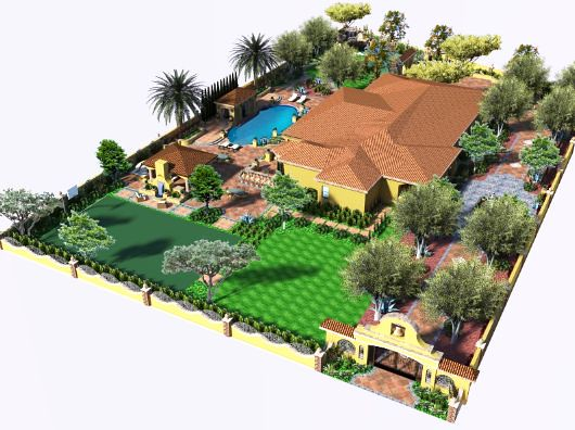 3d landscape design by v3 studio berzunza for Garden design 3d online