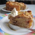 Apfel, Walnuss & Pudding-Kuchen