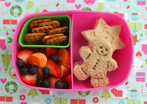 gingerbread snowflake sandwich bento girl | by anotherlunch.com