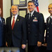 Congressman Wally Herger with the senior leadership of Beale AFB's 940th Wing