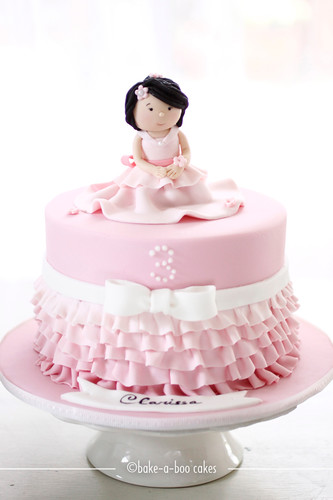 Girl and pink ruffles cake | by Bake-a-boo Cakes NZ
