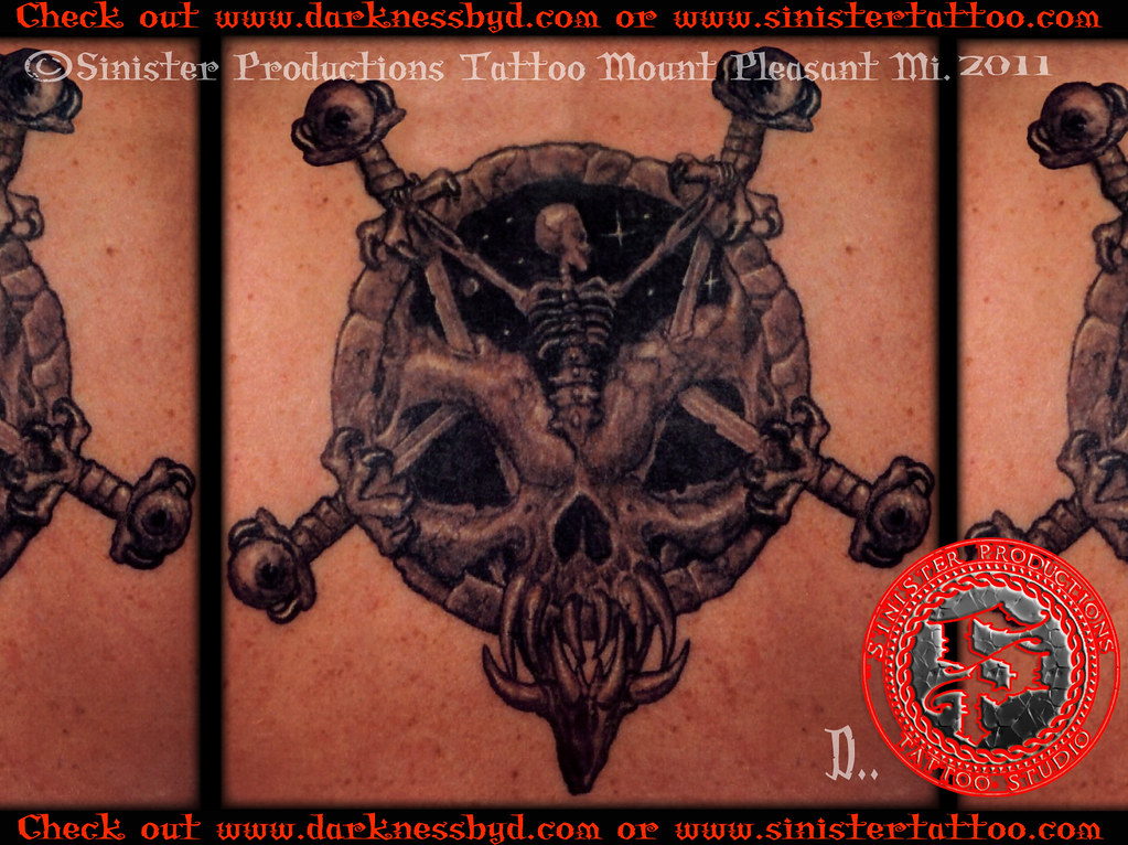 slayer divine intervention darkness tattoo done by d flickr. Black Bedroom Furniture Sets. Home Design Ideas