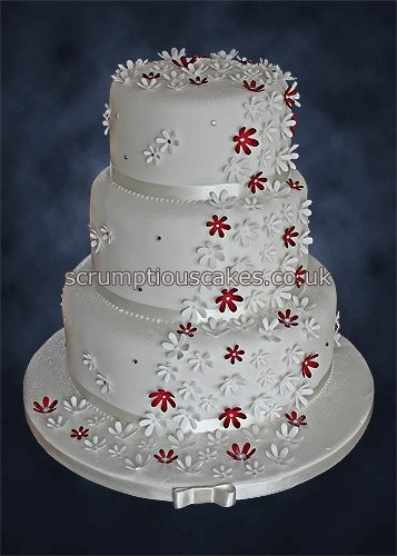 red wedding cakes wedding cake 804 amp white cascade paula 19170