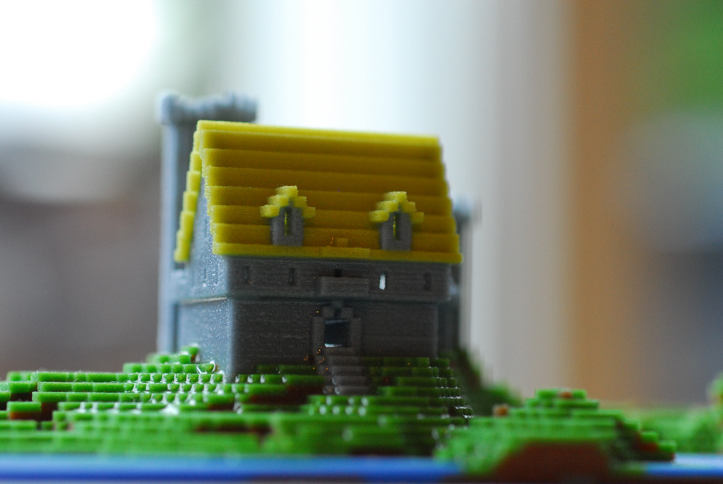 Block World Free >> Minecraft Miniature Castle (front view) | Another 3D print o… | Flickr