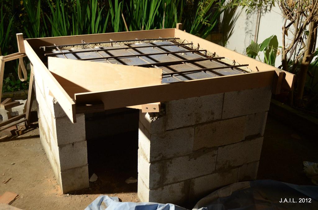 Encofrado para la losa de hormig n j a i l flickr - Losas de hormigon para jardines ...