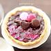 Chocolate Tarts - Raspberry and Pink Macarons