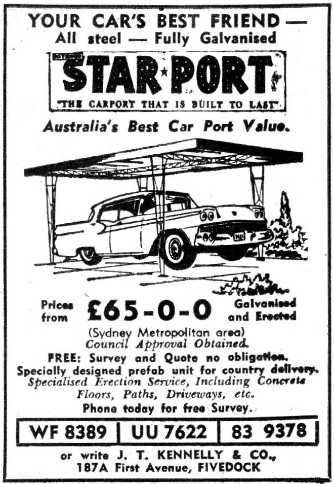 1961 starport carports ad