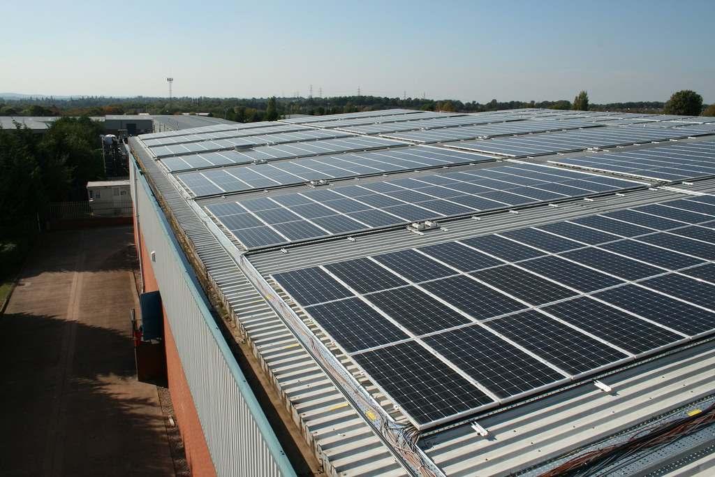 rooftop view of the solar array