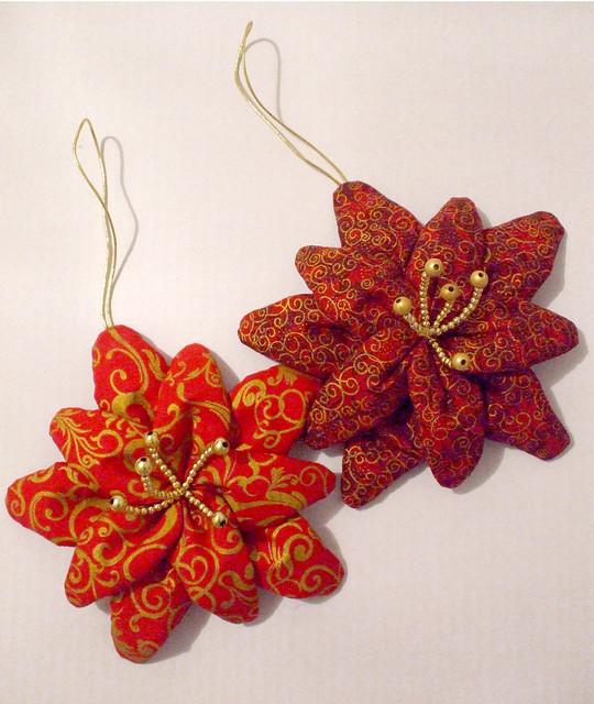 Flores de tecido no Natal