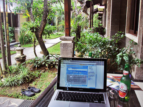 playing digital nomad at our family villa in Seminyak, Bali | by Cody McKibben