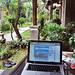 playing digital nomad at our family villa in Seminyak, Bali