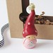Wee Gnome. Be Mine. A Miniature Clay Art Sculpture by humbleBea.