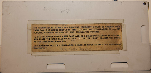 IBM  Gauge card (rear) | by hudson