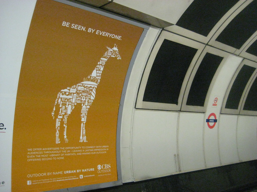 CBS Outdoor Tube Poster - Giraffe   From my London ...