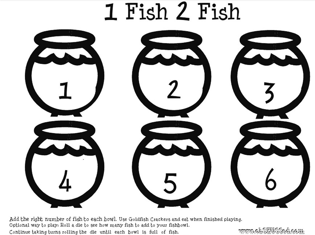 One Fish Printable ObSEUSSed