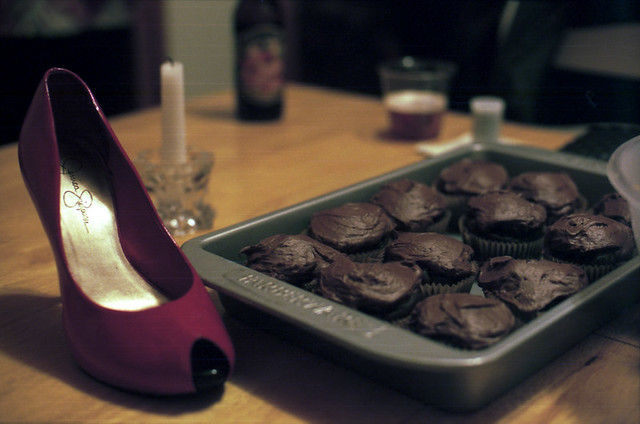 NYE cupcakes and the Shoe