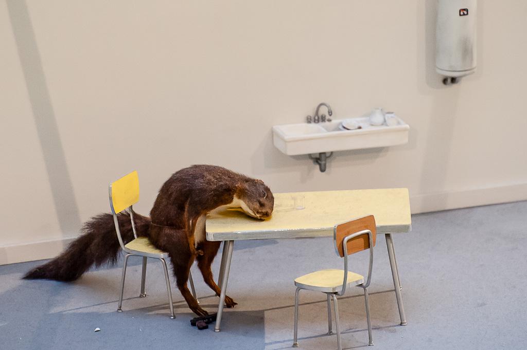 Maurizio Cattelan Squirrel Commits Suicide Maurizio