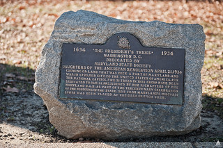 """The President's Trees"" Plaque 