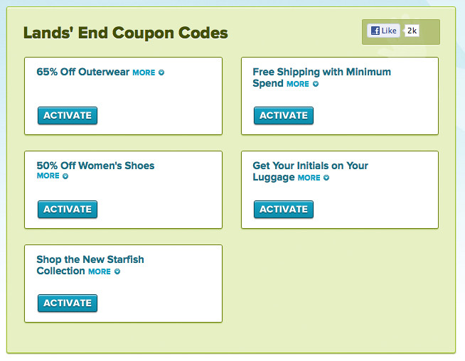 Lands end coupon codes