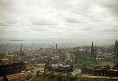 1956 Edinburgh Scotland (from castle)