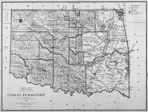 Map of Indian Territory (Oklahoma), 1885 | by On Being